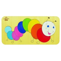 Andzee - Caterpillar Raised Puzzle 10pc