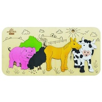 Andzee - Farm Animals Raised Puzzle 8pc