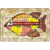 Andzee - Aboriginal Art Barramundi Puzzle 24pc