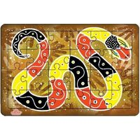 Andzee - Aboriginal Art Serpent Puzzle 24pc