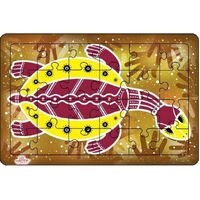 Andzee - Aboriginal Art Turtle Puzzle 24pc