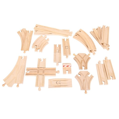 Bigjigs - Low Level Track Expansion Pack 25pcs