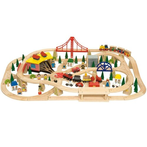 Bigjigs - Freight Train Set - 133pcs