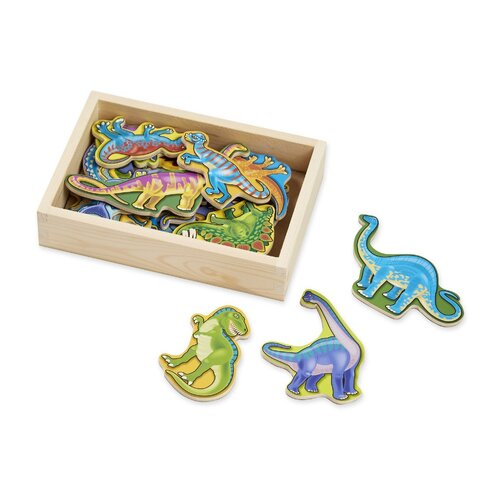 Melissa & Doug - Dinosaur Magnets In A Box of 20