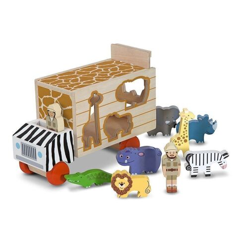 Melissa & Doug - Safari Animal Rescue Shape Sorting Truck
