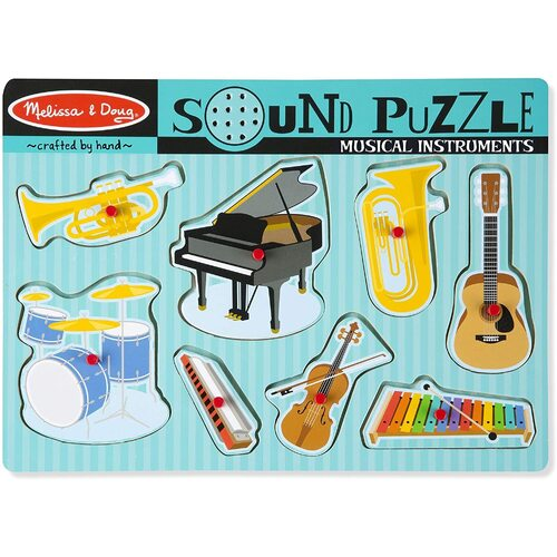 Melissa & Doug - Musical Instruments Sound Puzzle - 8pc