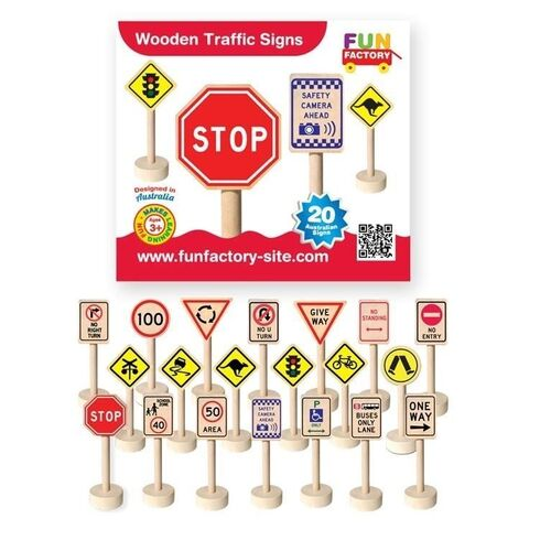 Fun Factory - Wooden Traffic Signs
