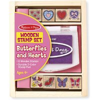 Melissa & Doug - Butterfly And Hearts Stamp Set