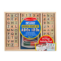 Melissa & Doug - Deluxe Wooden ABC-123 Stamp Set